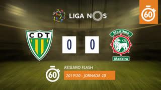 Liga NOS (20ªJ): Resumo Flash CD Tondela 0-0 Marítimo M.