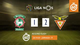 I Liga (19ªJ): Resumo Flash Marítimo M. 1-2 CD Aves