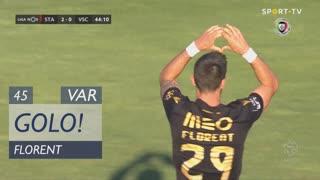 GOLO! Vitória SC, Florent aos 45', Santa Clara 2-1 Vitória SC
