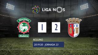 Liga NOS (23ªJ): Resumo Marítimo M. 1-2 SC Braga