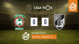 Liga NOS (16ªJ): Resumo Flash Marítimo M. 0-0 Vitória SC