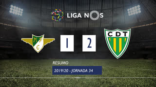 Liga NOS (34ªJ): Resumo Moreirense FC 1-2 CD Tondela