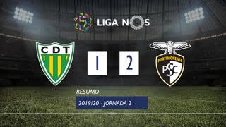 Liga NOS (2ªJ): Resumo CD Tondela 1-2 Portimonense