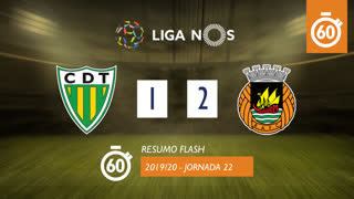 Liga NOS (22ªJ): Resumo Flash CD Tondela 1-2 Rio Ave FC