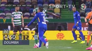 Sporting CP, Caso, Doumbia aos 32