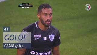 GOLO! FC Porto, César (p.b.) aos 41', FC Porto 2-0 Santa Clara