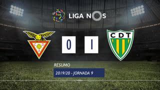 Liga NOS (9ªJ): Resumo CD Aves 0-1 CD Tondela