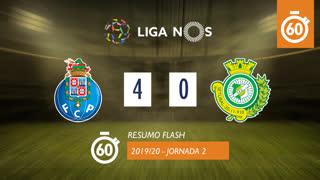 Liga NOS (2ªJ): Resumo Flash FC Porto 4-0 Vitória FC