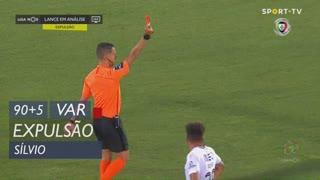 Vitória FC, Expulsão, Sílvio aos 90'+5'