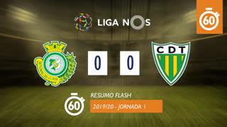 I Liga (1ªJ): Resumo Flash Vitória FC 0-0 CD Tondela