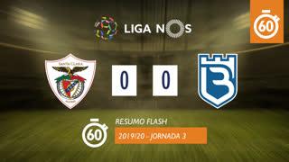 Liga NOS (3ªJ): Resumo Flash Santa Clara 0-0 Belenenses
