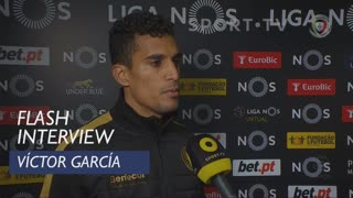 Liga (15ª): Flash Interview Víctor García