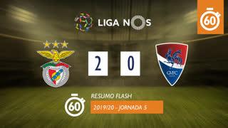 Liga NOS (5ªJ): Resumo Flash SL Benfica 2-0 Gil Vicente FC