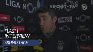 Liga (17ª): Flash Interview Bruno Lage