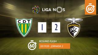 Liga NOS (2ªJ): Resumo Flash CD Tondela 1-2 Portimonense