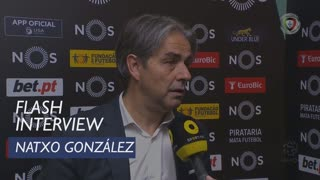 Liga (14ª): Flash Interview Natxo González