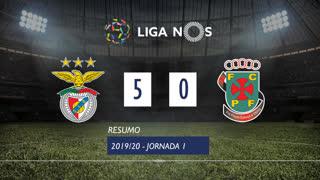 Liga NOS (1ªJ): Resumo SL Benfica 5-0 FC P.Ferreira