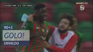 GOLO! Marítimo M., Erivaldo aos 90'+5', Marítimo M. 3-3 FC Famalicão