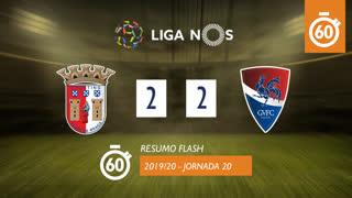 Liga NOS (20ªJ): Resumo Flash SC Braga 2-2 Gil Vicente FC