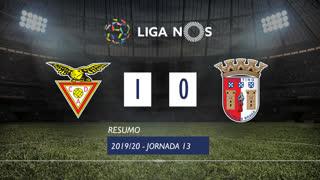 Liga NOS (13ªJ): Resumo CD Aves 1-0 SC Braga