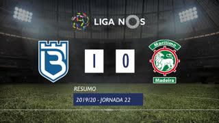 Liga NOS (22ªJ): Resumo Belenenses SAD 1-0 Marítimo M.
