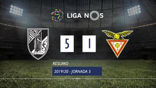 Liga NOS (5ªJ): Resumo Vitória SC 5-1 CD Aves
