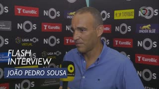 Liga (6ª): Flash Interview João Pedro Sousa