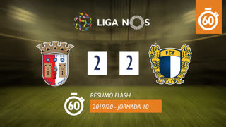 I Liga (10ªJ): Resumo Flash SC Braga 2-2 FC Famalicão
