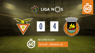 Liga NOS (20ªJ): Resumo Flash CD Aves 0-4 Rio Ave FC