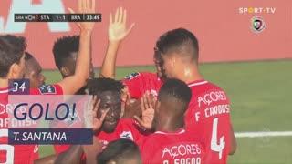 GOLO! Santa Clara, Thiago Santana aos 34', Santa Clara 1-1 SC Braga