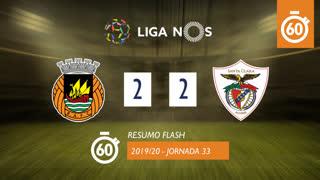 Liga NOS (33ªJ): Resumo Flash Rio Ave FC 2-2 Santa Clara