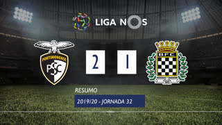 Liga NOS (32ªJ): Resumo Portimonense 2-1 Boavista FC