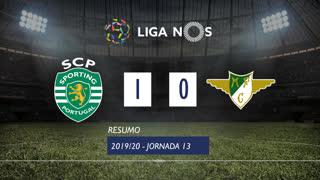 Liga NOS (13ªJ): Resumo Sporting CP 1-0 Moreirense FC