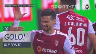 GOLO! SC Braga, Rui Fonte aos 10', Moreirense FC 0-2 SC Braga