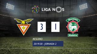 Liga NOS (2ªJ): Resumo CD Aves 3-1 Marítimo M.