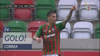 GOLO! Marítimo M., Correa aos 74', Marítimo M. 1-0 SL Benfica