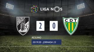 Liga NOS (23ªJ): Resumo Vitória SC 2-0 CD Tondela