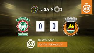 Liga NOS (32ªJ): Resumo Flash Marítimo M. 0-0 Rio Ave FC