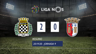 Liga NOS (9ªJ): Resumo Boavista FC 2-0 SC Braga