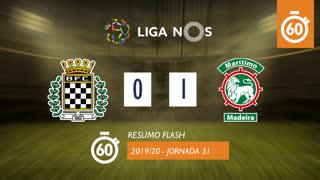 Liga NOS (31ªJ): Resumo Flash Boavista FC 0-1 Marítimo M.