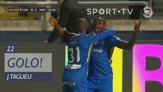 GOLO! Marítimo M., J.Tagueu aos 22', FC Famalicão 0-1 Marítimo M.