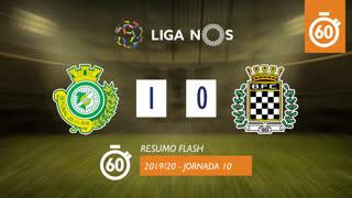 Liga NOS (10ªJ): Resumo Flash Vitória FC 1-0 Boavista FC