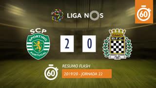 Liga NOS (22ªJ): Resumo Flash Sporting CP 2-0 Boavista FC
