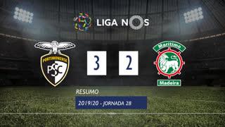 Liga NOS (28ªJ): Resumo Portimonense 3-2 Marítimo M.