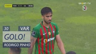 GOLO! Marítimo M., Rodrigo Pinho aos 30', Marítimo M. 1-1 Gil Vicente FC