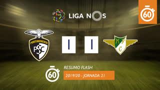 Liga NOS (21ªJ): Resumo Flash Portimonense 1-1 Moreirense FC