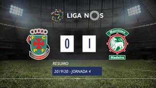I Liga (4ªJ): Resumo FC P.Ferreira 0-1 Marítimo M.
