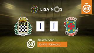 Liga NOS (3ªJ): Resumo Flash Boavista FC 1-1 FC P.Ferreira