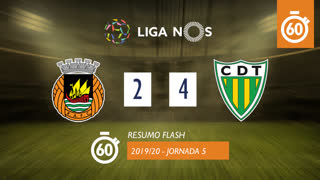 I Liga (5ªJ): Resumo Flash Rio Ave FC 2-4 CD Tondela