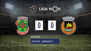 Liga NOS (8ªJ): Resumo FC P.Ferreira 0-0 Rio Ave FC
